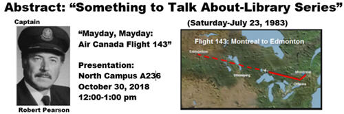 Abstract: Something to Talk about Library Series: Mayday! Mayday Air Canada Flight 143....