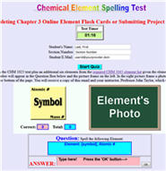 Click Here to Access 54 Element Spelling Test With Images